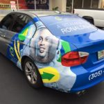 Wellness Brasil partial car wrap